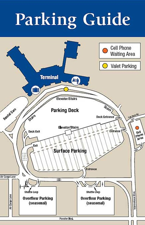 Charleston Airport Parking Map
