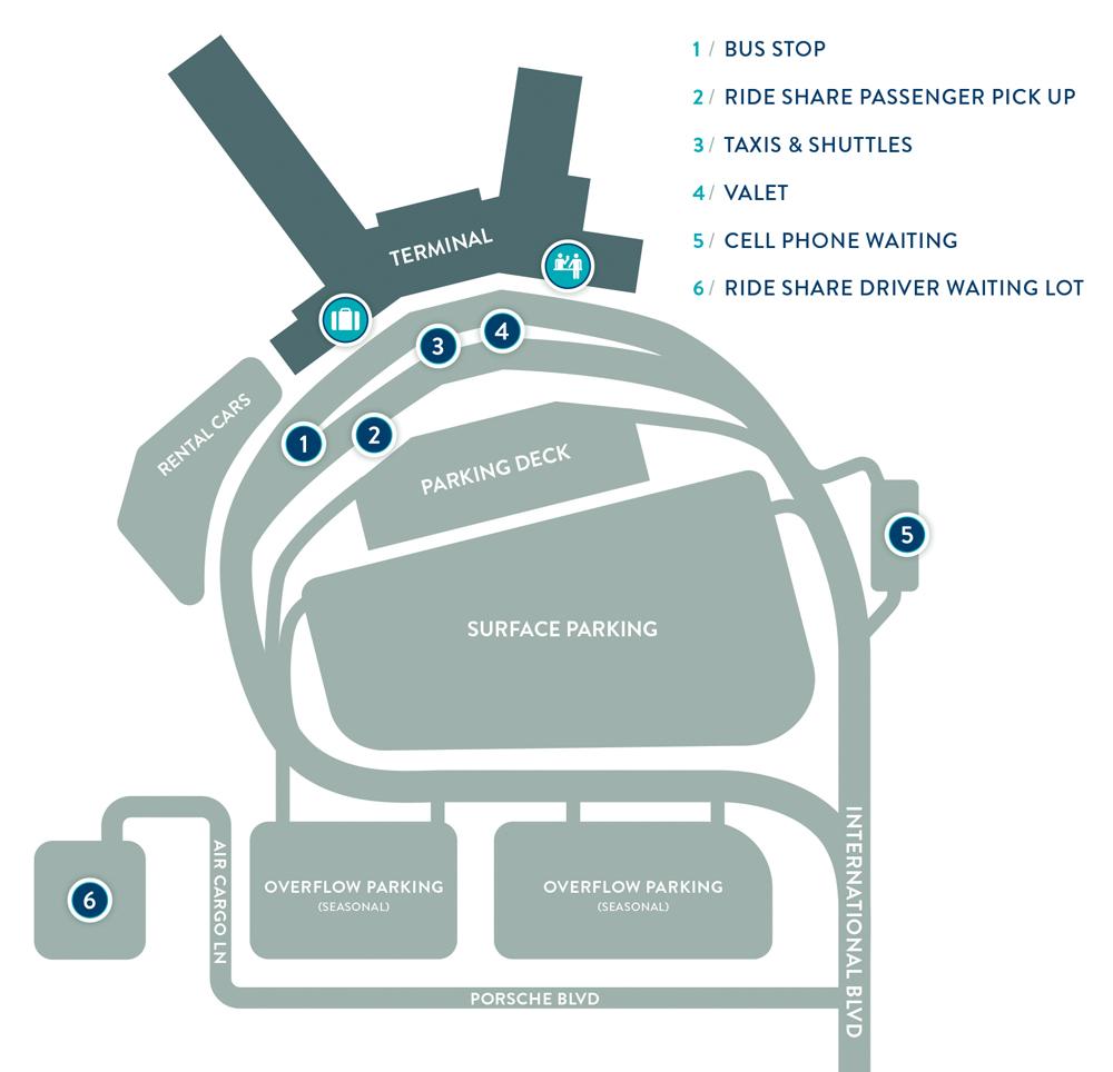 Charleston Airport Parking Map