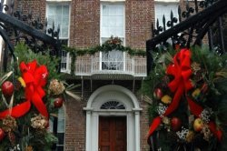 Nathaniel Russell House at Christmas