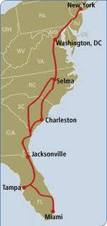 Amtrak East Coast Map