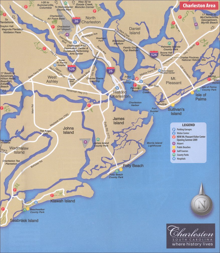 Helpful Charleston SC Maps 2019 on