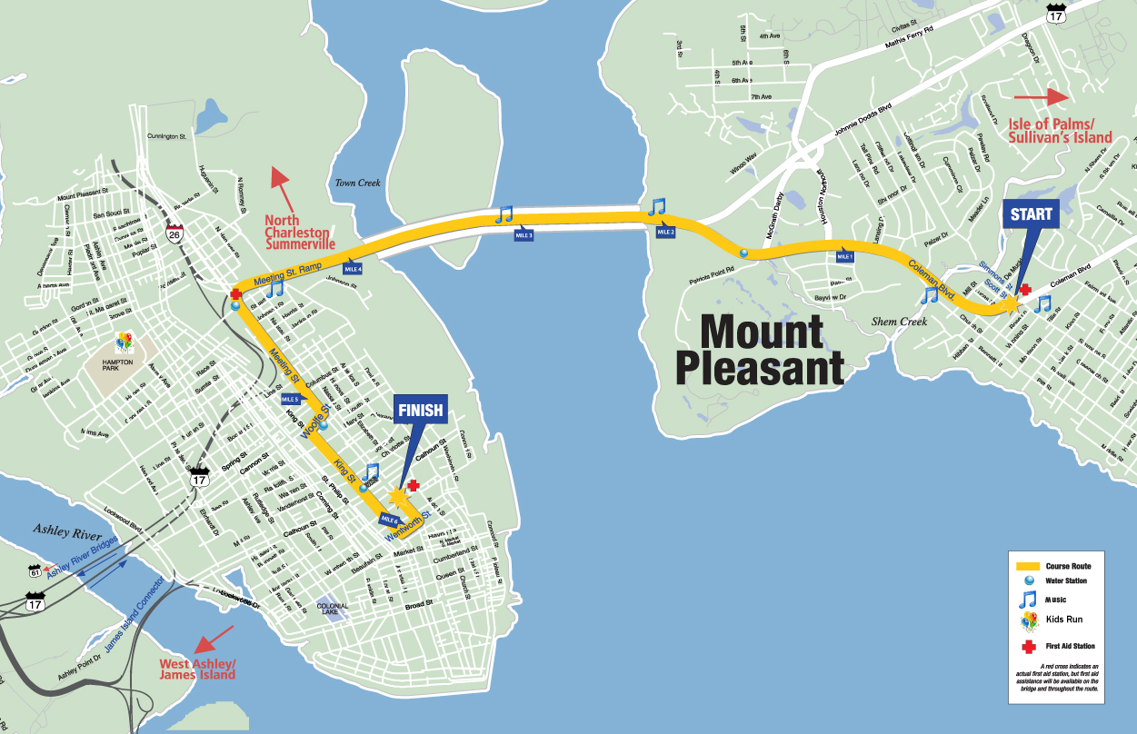 Cooper River Bridge Run Map