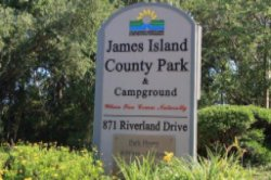 Entrance Sign for James Island County Park